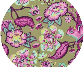 Tula Pink CHIPPER in Raspberry, Mint, or Sorbet - Sold by the Yard for 7.50