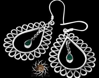Silver Earrings - Tribal Earrings - Indian Earrings - Gypsy Earrings - Ethnic Earrings - Statement Earrings - Long Earrings (ES73)