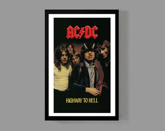 AC/DC Custom Poster - Highway To Hell - Album, Music, Legendary, Iconic, Classic, Rock