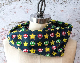 Mario One-ups and Invincibility Inspired Infinity Scarf