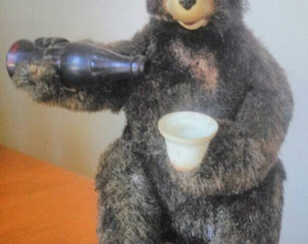 Vintage retro battery operated toy bear