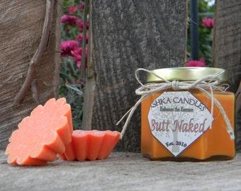 BUTT NAKED Soy Wax Melt Tarts (Box of 5) Coconut Wax Melt, Tropical wax melt, apple wax melt, strawberry wax melt, Great Gift Idea!