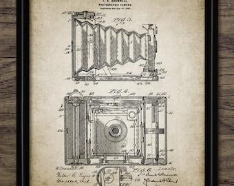 Vintage Camera Patent Print - 1902 Original Camera Design - Photography Wall Art - Photographer Gift - Single Print #1376 - INSTANT DOWNLOAD
