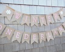 Winter Onederland 1st First Birthday Decor, 1st Birthday Banner Garland Bunting, Onederland Banner, Winter Wonderland Birthday, Girls 1st