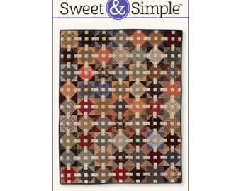 Pattern - Churn Dash Weave (S309) Sweet & Simple / Martingale Quilt Pattern