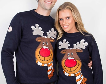 Ugly Christmas Sweater - Our Classic Rudolph Christmas Sweater - The Classiest Christmas Sweater You Will Find This Side of Christmas
