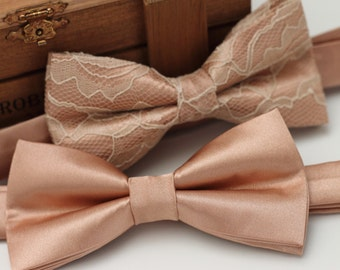 Rose Gold Tie Pre tied Bow Tie - Rose Gold Bow Tie - Gold Bow Tie - Groom Bow Tie - Pink Bow Tie - Adult Bow Tie - Baby Bow Tie - Wedding