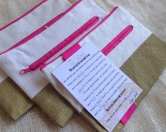 Bridesmaid Survival Kit Tag with Canvas Tote