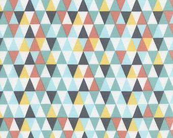 1/2 Yard Timeless Treasures  Lily Fun Triangle Geo 3045
