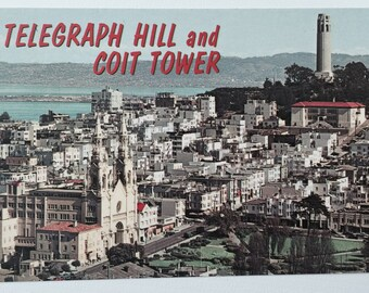Vintage Ca Postcard San Francisco Telegraph Hill and Coit Tower North Beach