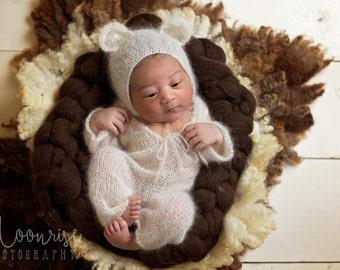 Cooper--Newborn Sleeper--Newborn Jammies--Newborn Bodysuit--Newborn Knit Sleeper--Newborn Photo Prop
