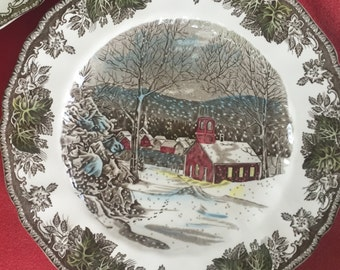 "Johnson Brother's ""Friendly Village"" dinner plate"