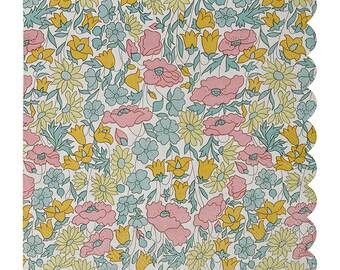 Large napkins, Liberty Poppy & Daisy napkin, Meri Meri Floral napkin (20 ct), Liberty print tableware, Bridal shower, Baby shower, Birthday