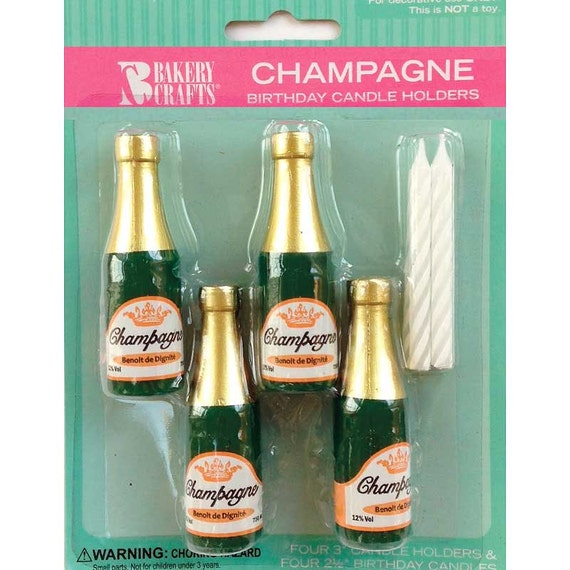 Champagne bottle candle holders champagne bottle candles for Champagne bottle candle holders