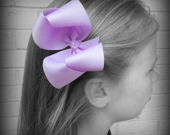 Light Purple Hair Bow, Purple Boutique Hair Bow, Purple Hair Bow, Purple Hair Clip, Boutique Hair Bow, School Hair Bows, Hairbows for Babies