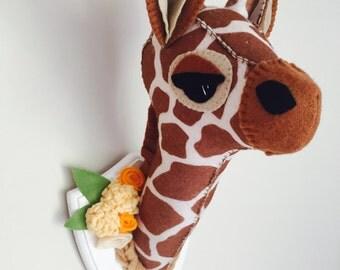 Faux Giraffe Taxidermy Head