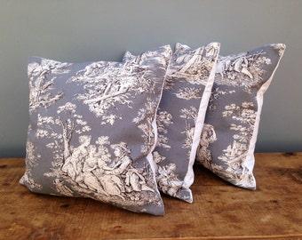 Toil De Jour french vintage style Cushions