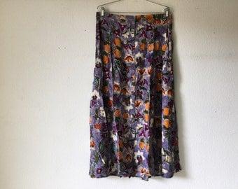 Vintage 80s Skirt Long
