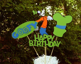 Goofy Birthday Table Centerpiece, Mickey Mouse Birthday Decorations, Party Decorations