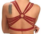 Shanti Yoga Tank Top in Crimson Red for Womens Summer Fashion  Boho Chic Festival Wear Gift for Her Yoga Wear