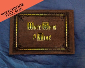 Henry's Once Upon A Time Storybook (inspired) - Full size Sketchbook - Made To Order