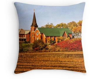 Fall Pillows, Church, Fall Pillow Cover, Fall Decor, Autumn Pillow Cover,  Fall Decor, Ontario, Canadian Shops, Christian Decor
