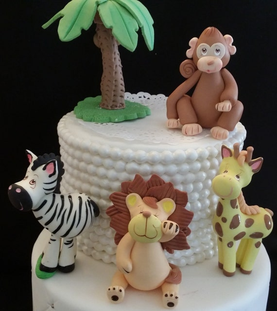 Safari Animals, Baby Jungle Animals, Safari Cake Toppers ...
