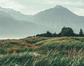 Photo Wall Art, Alaskan Landscape, Photo Print, Mountains, Landscape