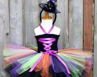 Witch Costume, Girl's Witch Costume, Witch tutu costume, Halloween Costume, Toddler Witch Costume, Halloween Tutu Costume