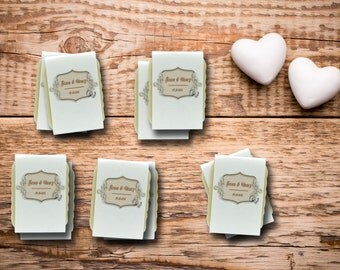 Unique Weddings Favors, 20 Handcrafted Custom Soap Favors, Bridal Party Gifts, Guest Size Vegan Soap