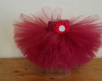Baby  Dark RED TUTU - Ballerina Dark Red Tutu Skirt- Newborn 3 6 9 12 Months Child Girls 3 4 5 6 8 10 12 - Christmas Photo Prop