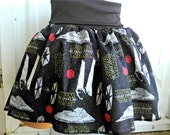 ready to ship small/ medium The Force Awakens fabric Star Wars tutu Skirt shirt custom made Space ships
