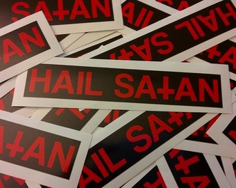 Hail Satan Removable Bumper Sticker
