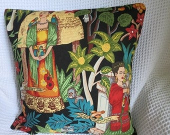 frida kahlo pillow etsy fr. Black Bedroom Furniture Sets. Home Design Ideas