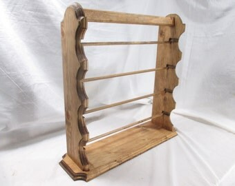 Elegant Ribbon Organizer Rack With Carry-Handle ~ Stained