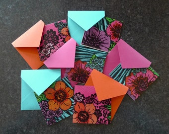 Mini Notes Small Cards Flower Cards Handmade Card