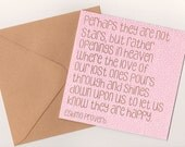 Sympathy Card - Perhaps they are not stars, Eskimo Proverb