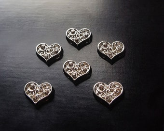 Heart Floating Charm for Floating Lockets-1 Piece-Gift Idea