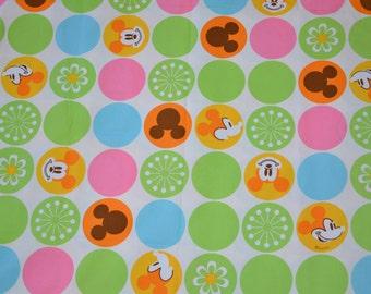 Cartoon Disney Fabric Mickey Mouse - Half yard