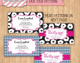 Thirty one Business Card Digital File Direct Sales Business Spring 2016 Patterns Thirty-One