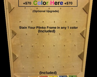 4FT Custom Plinko – Pick Any Colors – Includes Logo on Pucks