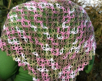 Looseweave handcrocheted shawl