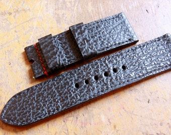Handmade shark leather watch strap 26mm