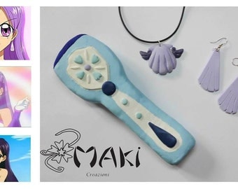 Mermaid Melody pichi pichi pitch cosplay set earing necklace microphone only necklace shell