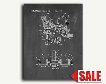 Patent Art - Leg Exercise Machine Patent Wall Art Print