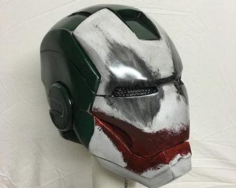 custom joker painted iron man helmet