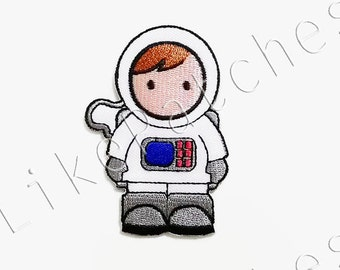Astronaut Kids New Sew / Iron On Patch Embroidered Applique Size 5.3cm.x7.6cm.