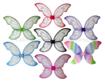 "LARGE ADULT 35"" x 25"" Butterfly Fairy Pixie Dress-up Costume Cosplay Wings (5 colors)"