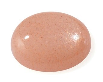 Peach Moonstone Oval Cabochon Loose Gemstone 11x9mm 2.80 cts.