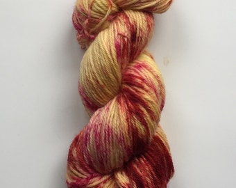 Hand Dyed Yarn | Hand Painted Yarn | 100% superwash merino wool | Hand Painted | worsted weight | 100 gr | Fire Starter